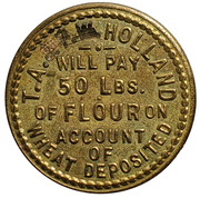 50 Pounds - T. A. Holland – obverse
