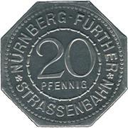 20 Pfennig (Nürnberg-Fürther) [Strassenbahn, Bayern] – obverse