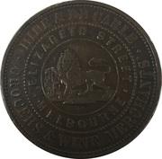 1 Penny - Hide & De Carle (Melbourne, Victoria) – reverse