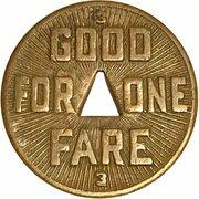 1 Fare - Pittsburgh Railway Co. (Pittsburgh, PA) – reverse