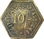 10 Shillings - St Cuthbert's Co-operative Association – obverse