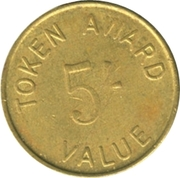 5 Shillings Token Award – obverse