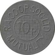 10 Pence - R.A. CO.OP. Soc. Ltd – obverse