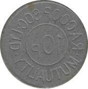 10 Pence - R.A. CO.OP. Soc. Ltd – reverse