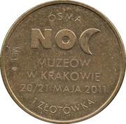 1 Złotówka  (Night at museum) – reverse
