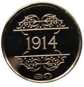 Token - 1830-1980 (1914 Dinant Massacre) – reverse