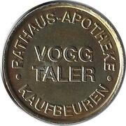 Vogg Taler - Brunnen Apotheke (Kaufbeuren) – reverse