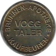 Vogg Taler - Brunnen Apotheke (Kaufbeuren) – obverse