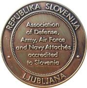 Token - The Military Attaché Club (Ljubljana) – reverse