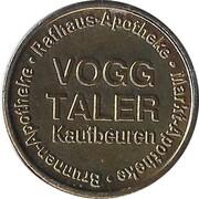 Vogg Taler - Brunnen Apotheke; Rathaus Apotheke; Markt Apotheke (Kaufbeuren) – obverse