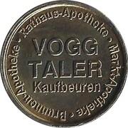 Vogg Taler - Brunnen Apotheke; Rathaus Apotheke; Markt Apotheke (Kaufbeuren) – reverse