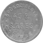 1 Zloty - Spoldzielnia 45 P. S. KRES (Rowne) – obverse