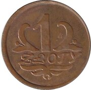 """1 Zloty - Spoldzielnia """"W Jednosci Sila"""" (Rokitno) – reverse"""