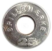 25 Spillemærke - K.P. – reverse