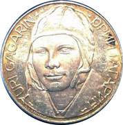 Token - Man's Flight into Space (Yuri Gagarin) – obverse
