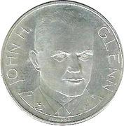 Token - Man's Flight into Space (John Herschel Glenn) – obverse