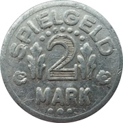 2 Mark (Play Money; Chessboard with dots) – obverse