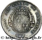 Token - Louis XV (Etats de Bretagne; Rennes) – reverse