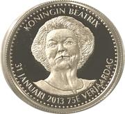 Token - Queen Beatrix 75th Birthday – obverse