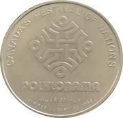 1 Dollar - Folklorama (Manitoba, Winnipeg) – reverse