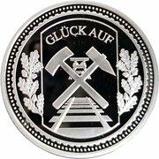 Token - Glück auf (Bergarbeiterstreik 1889) – reverse