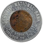 Token - Security National Bank (St. Louis, Missouri) – reverse