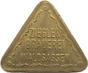 ½ Liter Bier - Ziegler Brauerei (Waldsassen, Bavaria) – reverse