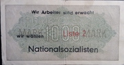 1,000 Mark (Nazi propaganda note) – reverse