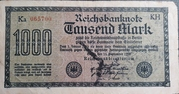1,000 Mark (Nazi propoganda note) – obverse