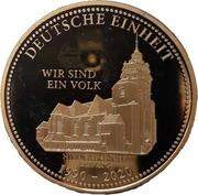 Token - 30 years United Germany (Leipzig - Nikolaikirche) – obverse
