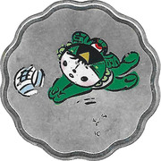 Token - Mascots of the Games of the XXIX Olympiad (Nini - Track Cycling/Volleyball) – reverse
