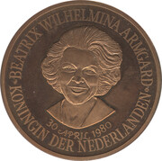 Token - Beatrix (30 april 1980) – obverse