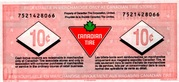 10 Cents - Canadian Tire Coupon (75th Anniversary) – reverse