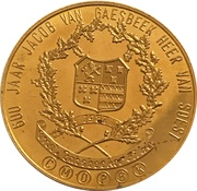 Token - 600 Years Jacob van Gaesbeek Lord of Soest – obverse