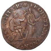 Rekenpenning (mislukte aanslag op Willem van Oranje) – obverse