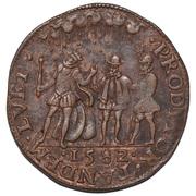 Rekenpenning (mislukte aanslag op Willem van Oranje) – reverse