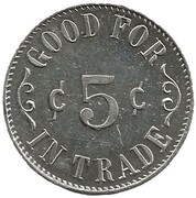 5 Cents - Stanard Supply Co. (Store No. 11; Brownton, West Virginia) – reverse