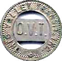 1 Zone Token - Ohio Valley Transit, Inc. (Wellsburg, WV) – obverse