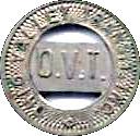 1 Zone Token - Ohio Valley Transit, Inc. (Wellsburg, WV) – obverse
