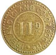 11 Pence - Ireland Island Co-op Society – obverse