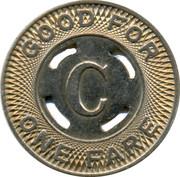 1 Fare - Canton City Lines Inc. – reverse