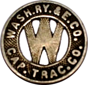 1 Fare - Capital Traction Co. (Washington, D.C.) – obverse