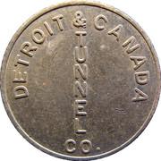 1 Fare - Detroit & Canada Tunnel Co. (Detroit, Michigan) – obverse