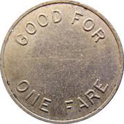 1 Fare - Detroit & Canada Tunnel Co. (Detroit, Michigan) – reverse