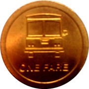 1 Fare - MARTA (Atlanta, Georgia) – reverse