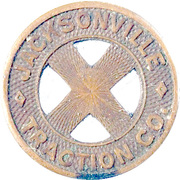 Token - Jacksonville Traction Co. (Jacksonville, Florida) – obverse