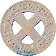 Token - Jacksonville Traction Co. (Jacksonville, Florida) – reverse
