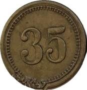 35 Werth-Marke – reverse