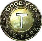 1 Fare - Tampa Transit Lines, Inc. (Tampa, Florida) – reverse