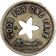 1 City Fare - Chicago South Bend & North Indiana Railway Company (South Bend, Indiana) – reverse